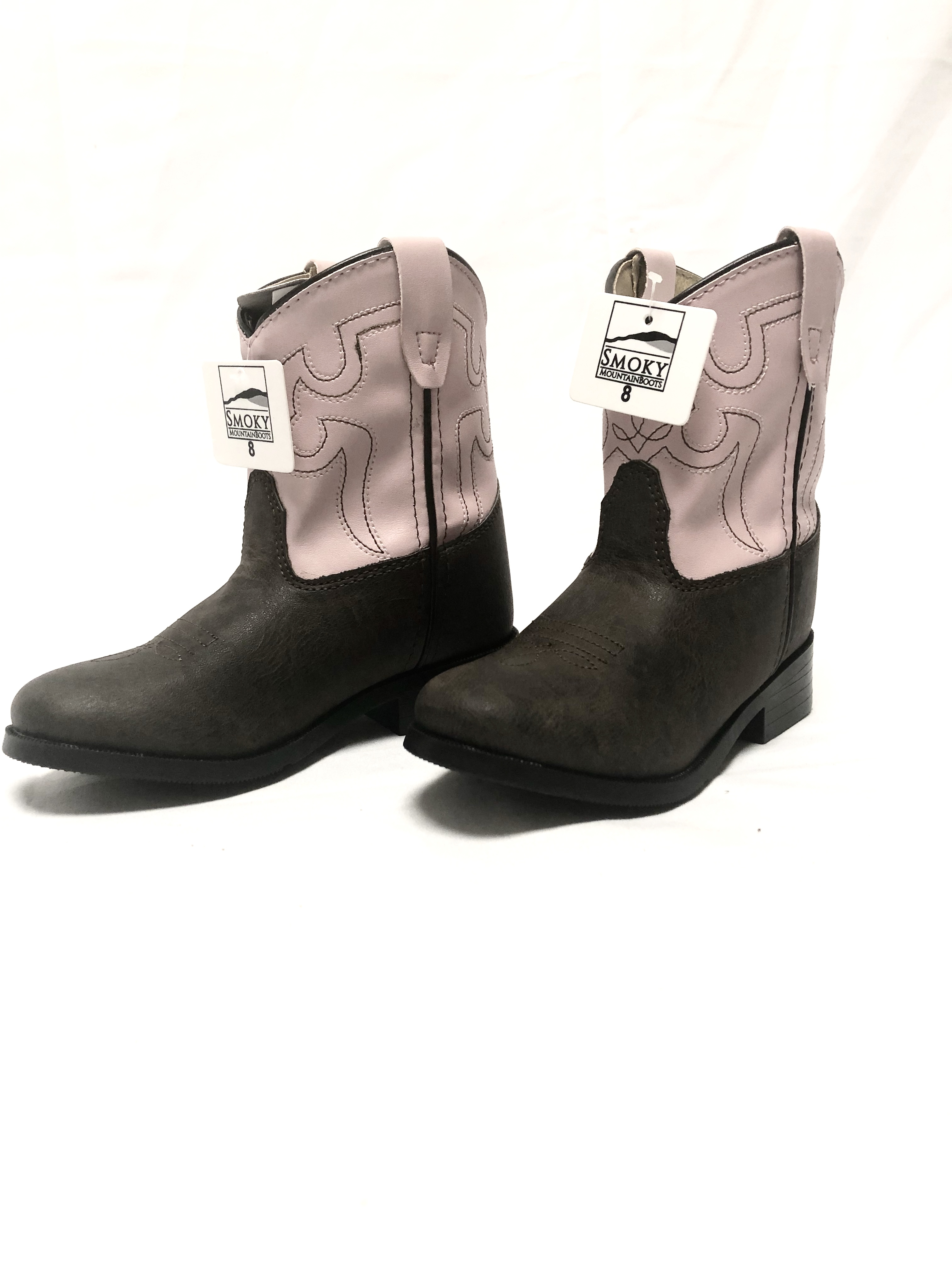 1a12c591c57 Details about Smoky Mountain Boots Style 1574 T, Pattern Monterey, Color  Brown/Pink, Size 8