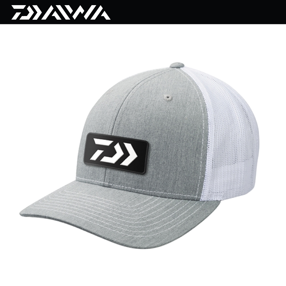 Gray//Black 3793 Daiwa D-VEC Embroidered Patch Trucker Fishing Cap Hat